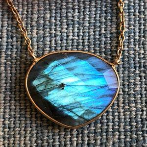 STUNNING Bright Blue Labradorite Necklace